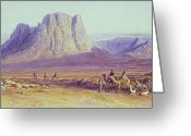 Spice Painting Greeting Cards - The Camel Train Greeting Card by Edward Lear