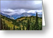 Canadian Rockies Greeting Cards - The Canadian Rockies Greeting Card by Brent Sisson