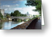 Galway Greeting Cards - The Canal Greeting Card by Mark Richards