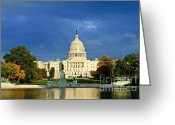 Republican Greeting Cards - The Capitol Greeting Card by Jim Chamberlain