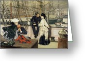 Tissot Greeting Cards - The Captain and the Mate Greeting Card by Tissot