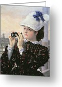 Peering Greeting Cards - The Captains Daughter Greeting Card by Tissot