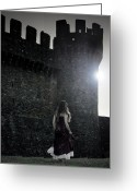 Battlement Greeting Cards - The Castle Greeting Card by Joana Kruse