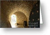 Door Greeting Cards - The Castle Tunnel Greeting Card by Therese Alcorn