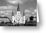 Louisiana Greeting Cards - The Cathedral Greeting Card by Scott Pellegrin