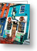 Pubs Greeting Cards - The Cats Eye Pub Greeting Card by Stephen Younts