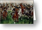 Soldiers Painting Greeting Cards - The Cavalry Greeting Card by WT Trego