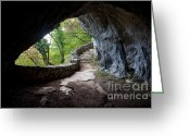 Cavern Greeting Cards - The Cave Greeting Card by Artur Bogacki