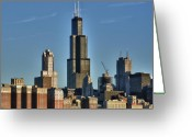 Tall Building Greeting Cards - The center of attention Greeting Card by Donald Schwartz