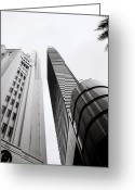 Vertigo Greeting Cards - The Central Business District in Singapore Greeting Card by Shaun Higson