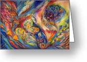 Signed Painting Greeting Cards - The Chagall Dreams Greeting Card by Elena Kotliarker