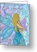 Magic Pastels Greeting Cards - The Changeling Greeting Card by Diana Haronis