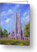 Church Greeting Cards - The Chapel at Duke University Greeting Card by Jeff Pittman