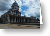Lord Admiral Nelson Greeting Cards - The Chapel at the Royal Naval College Greeting Card by Anna Villarreal Garbis
