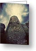 Gloomy Greeting Cards - The chapel tower Greeting Card by Meirion Matthias