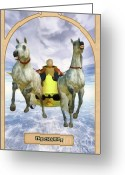 Prediction Greeting Cards - The Chariot Greeting Card by John Edwards