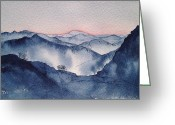 Sunset Framed Prints Painting Greeting Cards - The Chasm Greeting Card by Vandy Massey