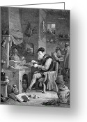 Secretive Greeting Cards - The Chemist, 17th Century Greeting Card by Science Source