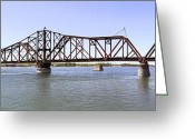 Missouri Greeting Cards - The Chicago and North Western Railroad Bridge Greeting Card by Mike McGlothlen