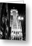 Batman Greeting Cards - The Chicago Stock Exchange Greeting Card by Will Teer