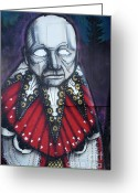 Face. Colorful Greeting Cards - The Chief Greeting Card by Bob Christopher