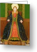Floor Painting Greeting Cards - The Child Enthroned Greeting Card by Thomas Cooper Gotch