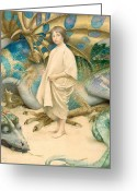Beast Greeting Cards - The Child in the World Greeting Card by Thomas Cooper Gotch
