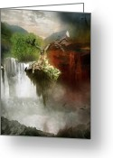 Heaven Greeting Cards - The Choice Greeting Card by Karen Koski