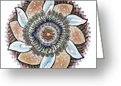 Jessica Sornson Greeting Cards - The Chris-Can-themum Wall Clock Greeting Card by Jessica Sornson