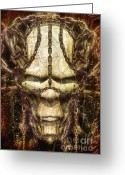 Pagan Art Greeting Cards - The Chronicle of Nath Greeting Card by Luca Oleastri