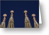 Cornet Greeting Cards - The Church Of La Sagrada Familia Greeting Card by Taylor S. Kennedy