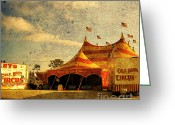Cole Photo Greeting Cards - The Circus is in Town Greeting Card by Susanne Van Hulst