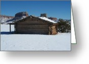 Chama River Greeting Cards - The City Slickers Cabin Greeting Card by FeVa  Fotos