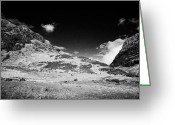 Gully Greeting Cards - the clachaig gully lower edge at aonach eagach at the entrance to Glencoe highlands scotland uk Greeting Card by Joe Fox