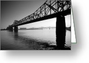 Landscape Framed Prints Greeting Cards - The Clark Memorial Bridge II Greeting Card by Steven Ainsworth