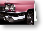 Mascots Greeting Cards - The Classic Pink Cadillac Convertible from 1959 Greeting Card by David Patterson