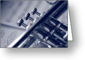 Trumpet Music Greeting Cards - The Classics Greeting Card by Jennifer Grover
