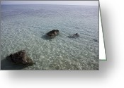 Sheikh Greeting Cards - The Clear Blue Waters Of The Red Sea Greeting Card by Taylor S. Kennedy
