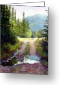 Puddle Greeting Cards - The Clearing Greeting Card by Mary Giacomini