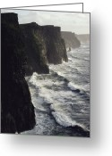 County Clare Greeting Cards - The Cliffs Of Moher Rise Seven-hundred Greeting Card by Cotton Coulson