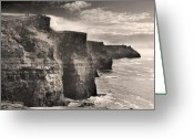 C Greeting Cards - The Cliffs of Moher Greeting Card by Robert Lacy