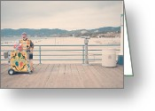Beach Photograph Photo Greeting Cards - The Clown Greeting Card by Nastasia Cook