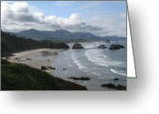 Award Greeting Cards - The Coast Greeting Card by Sue Taylor