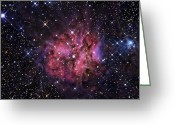 Cocoon Greeting Cards - The Cocoon Nebula Greeting Card by R Jay GaBany
