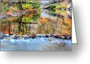 Shenandoah Greeting Cards - The Color Dam Greeting Card by JC Findley