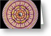 Mandalas Art Pastels Greeting Cards - The Color of Hapiness Greeting Card by Marcia Lupo
