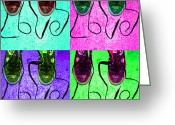 Sneakers Greeting Cards - The Color of Love Greeting Card by Paul Ward