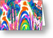 Coulourful Greeting Cards - The Colors Fountain Greeting Card by Alec Drake