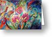 Mitzvah Greeting Cards - The colors of Day Greeting Card by Elena Kotliarker