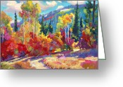 Impressionist Greeting Cards - The Colors of New Hampshire Greeting Card by David Lloyd Glover